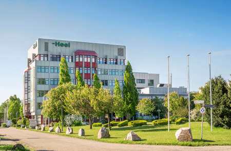 pharmaceutical company: BADEN-BADEN, GERMANY - MAY 5, 2016: HEEL Medicine Technology Building in Baden-Baden. Heel is a pharmaceutical company specialized in developing and manufacturing medicines made from natural ingredients. Editorial