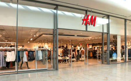 hm: BADEN-BADEN, GERMANY  - MAY 4: interior of  H&M fashion clothes store in the  shopping center of Baden-Baden.  Baden-Baden, May 4, 2016