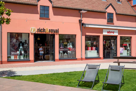 outlet store: ROPPENHEIM, ALSACE, FRANCE - June 22, 2016: RICH&ROYAL  STORE in the  Outlet Village Roppenheim