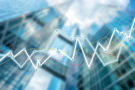 growth graph on business and investment background Stock Photo
