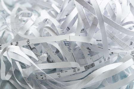 Pile of shredded paper Standard-Bild