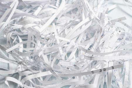 Pila de papel triturado
