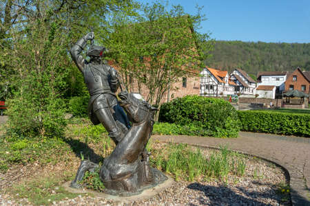 Bodenwerder, Germany, 21/04/2019: Sculpture of the