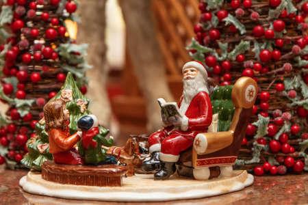 Christmas scene with Christmas figures