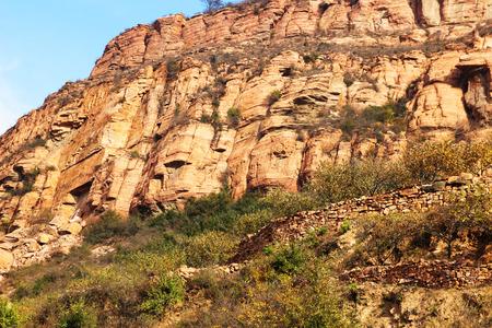 steep cliff: Steep cliff Stock Photo