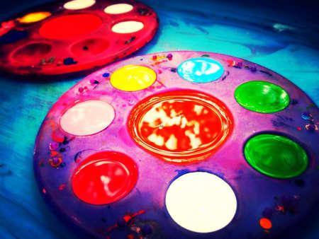 art: Colourful art palates