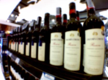 food distribution: Supermarket store blur background