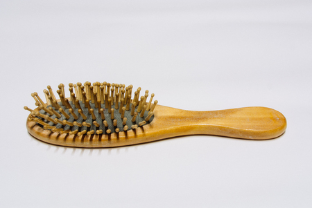 comb: Wooden comb Stock Photo
