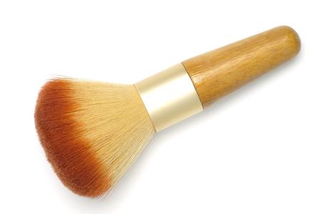 Makeup brush powder blusher isolated on white background.