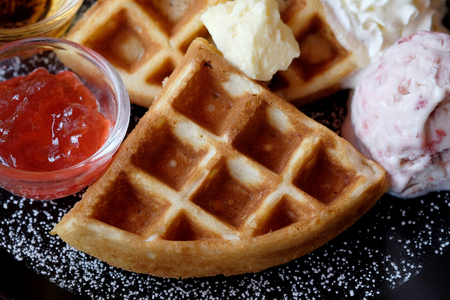 Sweet waffle dish. Banque d'images - 123545301