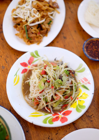 Thai papaya salad, Som Tum from Thailand Banque d'images - 123549323