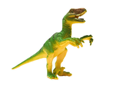 bloodthirsty: Toy dinosaur isolated on a white background