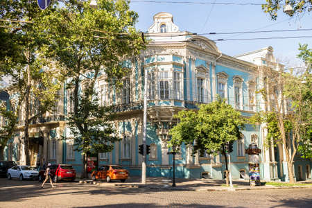 odessa: Big house in Odessa in the summer. Ukraine. Editorial