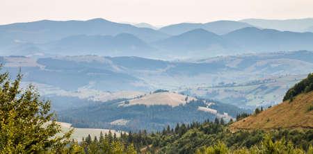 ukraine: Mountain View. Early autumn. Ukraine. Stock Photo