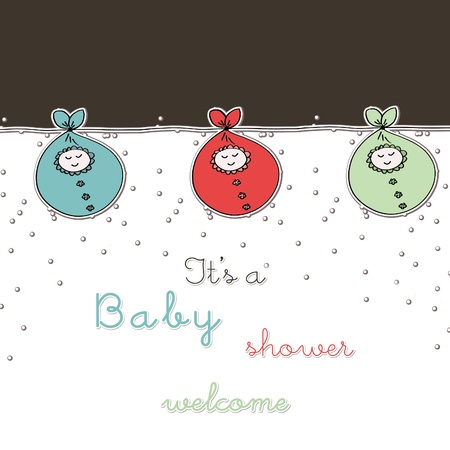 baby arrival card photo