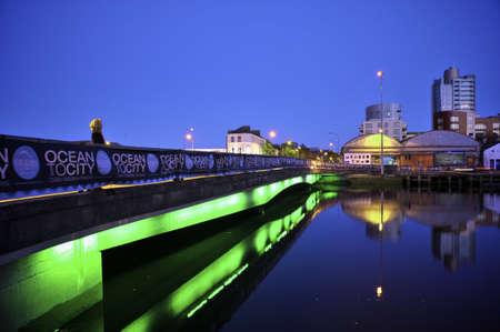cork city at night Editorial