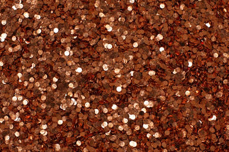 pennies: pile of 1 cent coins
