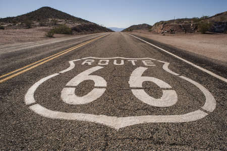 routes: route 66 mojave sign