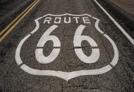 route 66 roadway  photo