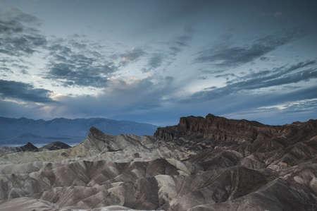 zabriskie Point cloudy dusk photo