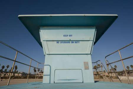 lifeguard tower: Huntington beach lifeguard tower Stock Photo
