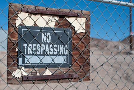 no trespassing: Ninguna muestra de violaci�n en tierras privadas