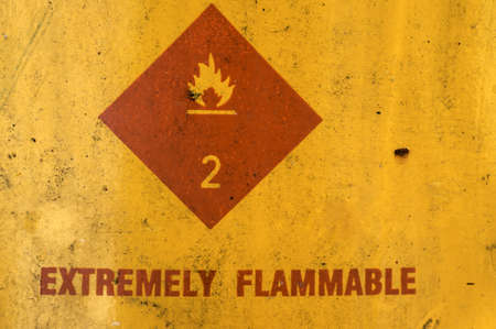 extremely: Extremely flammable sign