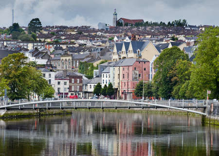 cities: cork city cityscape Stock Photo