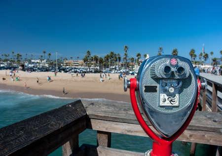 Newport beach Coin operated telescope photo