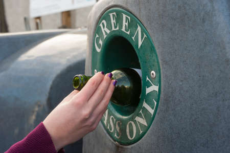 concerted: glass recycling Stock Photo
