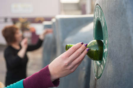 concerted: recycling wine bottles