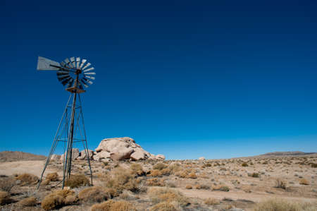 old desert Farm Windmill photo