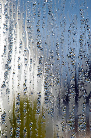 steamy: water drop window abstract background
