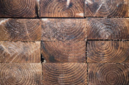 2x4 wood: Stack of wood planks textures in lumber yard Stock Photo
