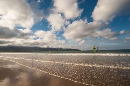 beach landscape: windsurfing beach landscape