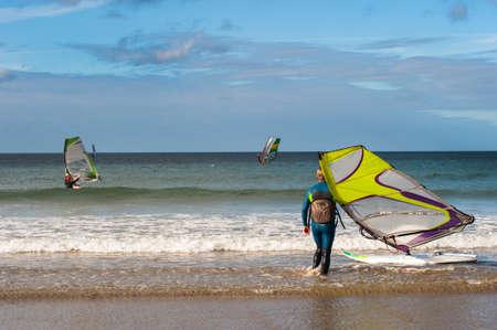 windsurfers: windsurfers beach