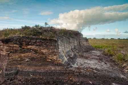 turf bog: Irish Peat Bog landscape Stock Photo