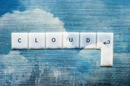 condensation: cloud computing condensation keys concept
