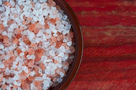 rock salt: bowl of himalayan rock salt