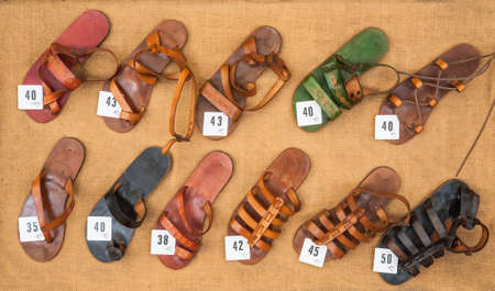 foot ware: sandals for sale background