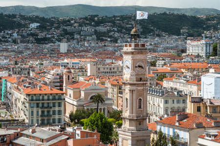 Rooftops of Nice in France