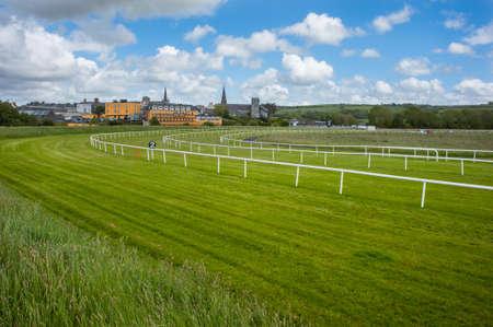cavallo in corsa: Cavallo pista paesaggio