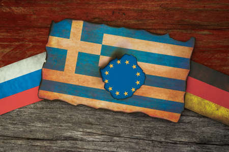 financial crisis: Greek financial crisis concept background