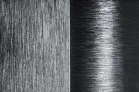 brushed metal contrast design background Banco de Imagens