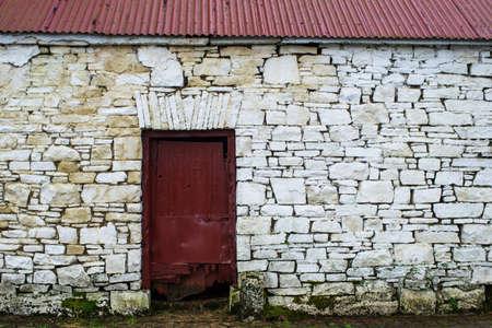 irish history: old irish stone building architecture design background