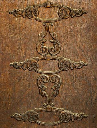 old furniture: Design detail of old Antique wood furniture