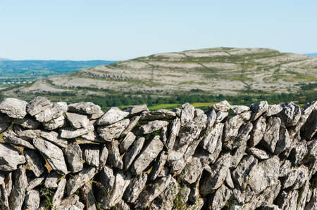 burren: Old Stone Wall texture in the Burren landscape of County Clare, Ireland
