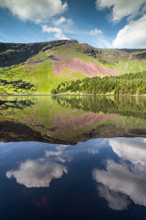 Scenic lake and mountains reflection in the Dingle Peninsula, County Kerry, Ireland Stock Photo