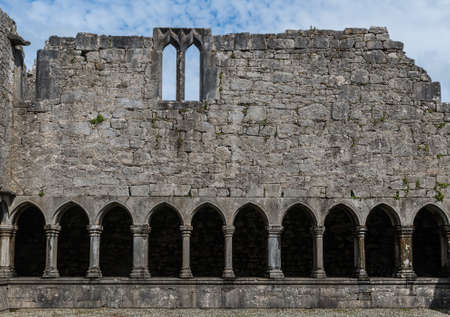 Courtyard of old Franciscan Friary ruins in Askeaton, Co. Limerick, Ireland