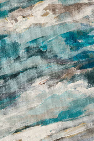 Abstract colours painted on canvas background texture